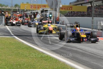 World © Octane Photographic Ltd. DAMS - GP2/11 – Alex Lynn. Friday 13th May 2016, GP2 Practice, Circuit de Barcelona Catalunya, Spain. Digital Ref :1538CB1D7946