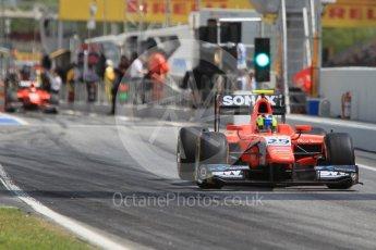 World © Octane Photographic Ltd. Arden International - GP2/11 – Nabil Jeffri and Jimmy Eriksson. . Friday 13th May 2016, GP2 Practice, Circuit de Barcelona Catalunya, Spain. Digital Ref :1538CB1D8009