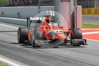 World © Octane Photographic Ltd. Arden International - GP2/11 – Nabil Jeffri. Friday 13th May 2016, GP2 Practice, Circuit de Barcelona Catalunya, Spain. Digital Ref :1538CB1D8013
