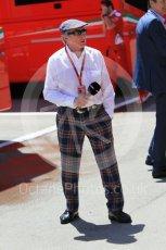 World © Octane Photographic Ltd. Sir Jackie Stewart. Saturday 14th May 2016, F1 Spanish GP - Qualifying, Circuit de Barcelona Catalunya, Spain. Digital Ref : 1546CB1D9638
