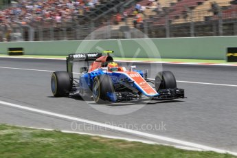 World © Octane Photographic Ltd. Manor Racing MRT05 – Rio Haryanto. Saturday 14th May 2016, F1 Spanish GP - Qualifying, Circuit de Barcelona Catalunya, Spain. Digital Ref : 1546CB1D9680