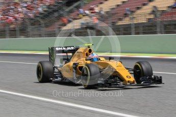 World © Octane Photographic Ltd. Renault Sport F1 Team RS16 – Jolyon Palmer. Saturday 14th May 2016, F1 Spanish GP - Qualifying, Circuit de Barcelona Catalunya, Spain. Digital Ref : 1546CB1D9764