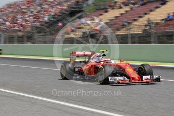 World © Octane Photographic Ltd. Scuderia Ferrari SF16-H – Kimi Raikkonen. Saturday 14th May 2016, F1 Spanish GP - Qualifying, Circuit de Barcelona Catalunya, Spain. Digital Ref : 1546CB1D9788