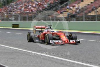 World © Octane Photographic Ltd. Scuderia Ferrari SF16-H – Sebastian Vettel. Saturday 14th May 2016, F1 Spanish GP - Qualifying, Circuit de Barcelona Catalunya, Spain. Digital Ref : 1546CB1D9814