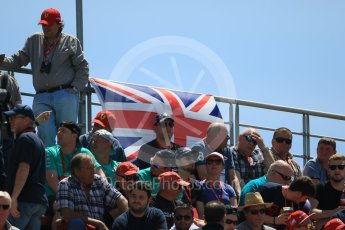 World © Octane Photographic Ltd. Fans. Saturday 14th May 2016, F1 Spanish GP - Qualifying, Circuit de Barcelona Catalunya, Spain. Digital Ref : 1546CB7D7434