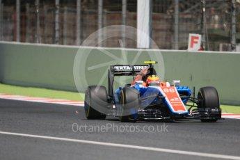 World © Octane Photographic Ltd. Manor Racing MRT05 – Rio Haryanto. Saturday 14th May 2016, F1 Spanish GP - Qualifying, Circuit de Barcelona Catalunya, Spain. Digital Ref : 1546CB7D7487
