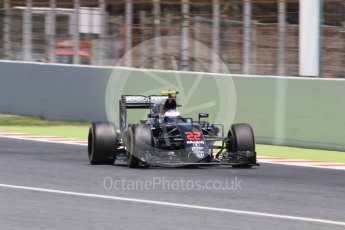 World © Octane Photographic Ltd. McLaren Honda MP4-31 – Jenson Button. Saturday 14th May 2016, F1 Spanish GP - Qualifying, Circuit de Barcelona Catalunya, Spain. Digital Ref : 1546CB7D7571