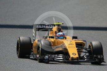World © Octane Photographic Ltd. Renault Sport F1 Team RS16 – Jolyon Palmer. Saturday 14th May 2016, F1 Spanish GP - Qualifying, Circuit de Barcelona Catalunya, Spain. Digital Ref : 1546CB7D7646