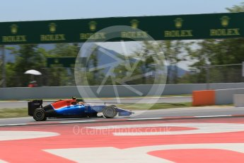 World © Octane Photographic Ltd. Manor Racing MRT05 – Rio Haryanto. Saturday 14th May 2016, F1 Spanish GP - Qualifying, Circuit de Barcelona Catalunya, Spain. Digital Ref : 1546LB1D6743
