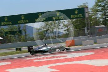 World © Octane Photographic Ltd. Mercedes AMG Petronas W07 Hybrid – Lewis Hamilton. Saturday 14th May 2016, F1 Spanish GP - Qualifying, Circuit de Barcelona Catalunya, Spain. Digital Ref : 1546LB1D6805