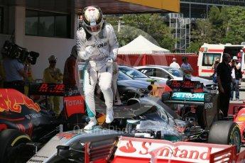 World © Octane Photographic Ltd. Mercedes AMG Petronas W07 Hybrid – Lewis Hamilton. Saturday 14th May 2016, F1 Spanish GP - Qualifying, Circuit de Barcelona Catalunya, Spain. Digital Ref : 1546LB1D7027