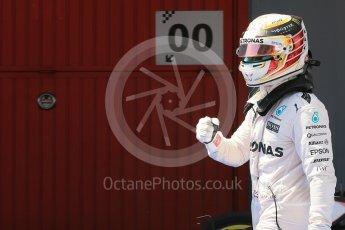 World © Octane Photographic Ltd. Mercedes AMG Petronas W07 Hybrid – Lewis Hamilton. Saturday 14th May 2016, F1 Spanish GP - Qualifying, Circuit de Barcelona Catalunya, Spain. Digital Ref : 1546LB1D7059