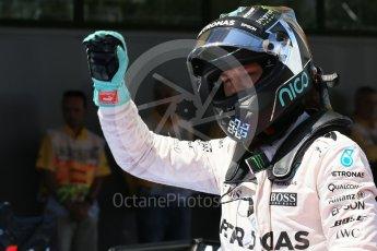 World © Octane Photographic Ltd. Mercedes AMG Petronas W07 Hybrid – Nico Rosberg. Saturday 14th May 2016, F1 Spanish GP - Qualifying, Circuit de Barcelona Catalunya, Spain. Digital Ref : 1546LB1D7098
