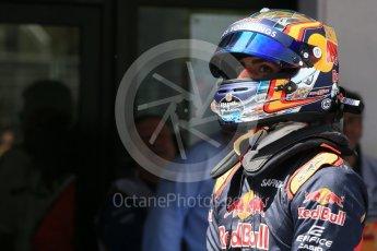 World © Octane Photographic Ltd. Scuderia Toro Rosso STR11 – Carlos Sainz. Saturday 14th May 2016, F1 Spanish GP - Qualifying, Circuit de Barcelona Catalunya, Spain. Digital Ref : 1546LB1D7125