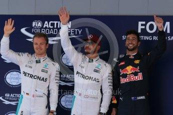 World © Octane Photographic Ltd. Mercedes AMG Petronas W07 Hybrid – Lewis Hamilton, Nico Rosberg and Red Bull Racing RB12 – Daniel Ricciardo. Saturday 14th May 2016, F1 Spanish GP - Qualifying, Circuit de Barcelona Catalunya, Spain. Digital Ref : 1546LB1D7209