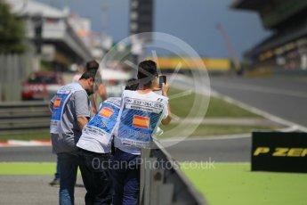 World © Octane Photographic Ltd. Trackside marshals. Sunday 15th May 2016, F1 Spanish GP Race, Circuit de Barcelona Catalunya, Spain. Digital Ref :