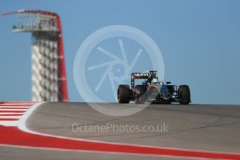 World © Octane Photographic Ltd. Sahara Force India VJM09 - Nico Hulkenberg. Friday 21st October 2016, F1 USA Grand Prix Practice 1, Austin, Texas – Circuit of the Americas (COTA). Digital Ref :1742LB1D0315