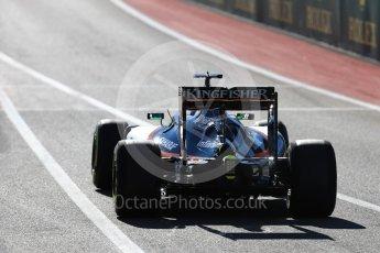 World © Octane Photographic Ltd. Sahara Force India VJM09 - Nico Hulkenberg. Saturday 22nd October 2016, F1 USA Grand Prix Practice 3, Austin, Texas – Circuit of the Americas (COTA). Digital Ref :1745LB1D1920