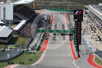 World © Octane Photographic Ltd. The grid prepares for the formation lap. Sunday 23rd October 2016, F1 USA Grand Prix Race, Austin, Texas – Circuit of the Americas (COTA). Digital Ref :1749LB1D3541