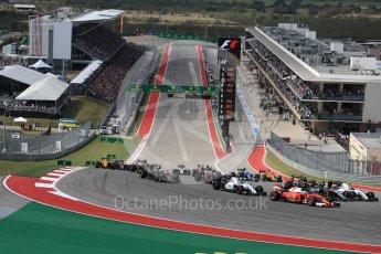 World © Octane Photographic Ltd. Scuderia Ferrari SF16-H – Sebastian Vettel. Sunday 23rd October 2016, F1 USA Grand Prix Race, Austin, Texas – Circuit of the Americas (COTA). Digital Ref :1749LB1D3607