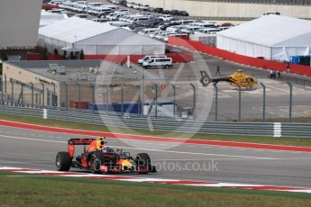 World © Octane Photographic Ltd. Red Bull Racing RB12 – Max Verstappen. Sunday 23rd October 2016, F1 USA Grand Prix Race, Austin, Texas – Circuit of the Americas (COTA). Digital Ref :1749LB1D3873