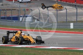 World © Octane Photographic Ltd. Renault Sport F1 Team RS16 - Kevin Magnussen. Sunday 23rd October 2016, F1 USA Grand Prix Race, Austin, Texas – Circuit of the Americas (COTA). Digital Ref :1749LB1D3928