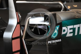 World © Octane Photographic Ltd. Mercedes AMG Petronas W07 Hybrid body turning vane. Thursday 20th October 2016, F1 USA Grand Prix, Austin, Texas – Circuit of the Americas (COTA). Digital Ref :