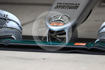 World © Octane Photographic Ltd. Mercedes AMG Petronas W07 Hybrid nose (2nd spare). Thursday 20th October 2016, F1 USA Grand Prix, Austin, Texas – Circuit of the Americas (COTA). Digital Ref :