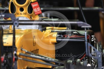 World © Octane Photographic Ltd. Renault Sport F1 Team RS16 sidepod wiring. Thursday 20th October 2016, F1 USA Grand Prix, Austin, Texas – Circuit of the Americas (COTA). Digital Ref :