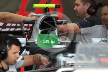 World © Octane Photographic Ltd. Haas F1 Team VF-16 intake. Thursday 20th October 2016, F1 USA Grand Prix, Austin, Texas – Circuit of the Americas (COTA). Digital Ref :
