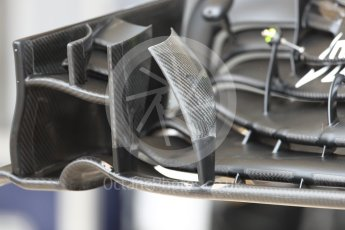 World © Octane Photographic Ltd. Williams Martini Racing, Williams Mercedes FW38 front wing. Thursday 20th October 2016, F1 USA Grand Prix, Austin, Texas – Circuit of the Americas (COTA). Digital Ref :1740LB1D9617