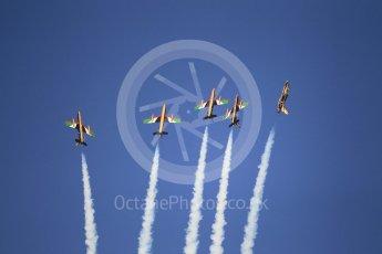 World © Octane Photographic Ltd. UAE Al Fursan (The Knights) Air Display Team – Aermacchi MB-339A. Saturday 25th November 2017, F1 Abu Dhabi GP - Yas Marina circuit, Abu Dhabi. Digital Ref : -2011CB1L7825