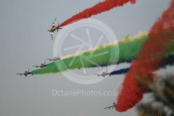 World © Octane Photographic Ltd. UAE Al Fursan (The Knights) Air Display Team – Aermacchi MB-339A. Saturday 25th November 2017, F1 Abu Dhabi GP - Yas Marina circuit, Abu Dhabi. Digital Ref : 2011CB1L8222