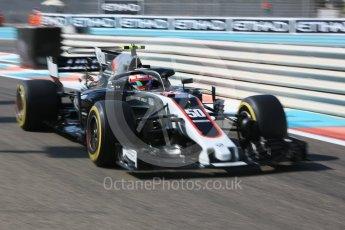 World © Octane Photographic Ltd. Formula 1 - British Grand Prix. Antonio Giovinazzi with Halo - Haas F1 Team VF-17 Reserve Driver. Yas Marina Circuit, Abu Dhabi. Friday 24th November 2017. Digital Ref: