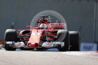 World © Octane Photographic Ltd. Formula 1 - Abu Dhabi Grand Prix - Friday Practice 1. Sebastian Vettel - Scuderia Ferrari SF70H. Yas Marina Circuit, Abu Dhabi. Friday 24th November 2017. Digital Ref: