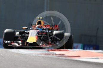 World © Octane Photographic Ltd. Formula 1 - Abu Dhabi Grand Prix - Friday Practice 1. Max Verstappen - Red Bull Racing RB13. Yas Marina Circuit, Abu Dhabi. Friday 24th November 2017. Digital Ref: