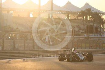 World © Octane Photographic Ltd. Formula 1 - Abu Dhabi Grand Prix - Friday - Practice 2. Kevin Magnussen - Haas F1 Team VF-17. Yas Marina Circuit, Abu Dhabi. Friday 24th November 2017. Digital Ref: 2003CB1L6032