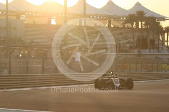 World © Octane Photographic Ltd. Formula 1 - Abu Dhabi Grand Prix - Friday - Practice 2. Romain Grosjean - Haas F1 Team VF-17. Yas Marina Circuit, Abu Dhabi. Friday 24th November 2017. Digital Ref: 2003CB1L6091