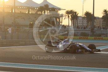 World © Octane Photographic Ltd. Formula 1 - Abu Dhabi Grand Prix - Friday - Practice 2. Pascal Wehrlein – Sauber F1 Team C36. Yas Marina Circuit, Abu Dhabi. Friday 24th November 2017. Digital Ref: 2003CB1L6207