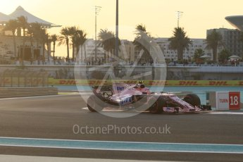 World © Octane Photographic Ltd. Formula 1 - Abu Dhabi Grand Prix - Friday - Practice 2. Esteban Ocon - Sahara Force India VJM10. Yas Marina Circuit, Abu Dhabi. Friday 24th November 2017. Digital Ref: 2003CB1L6237