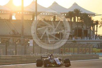 World © Octane Photographic Ltd. Formula 1 - Abu Dhabi Grand Prix - Friday - Practice 2. Pascal Wehrlein – Sauber F1 Team C36. Yas Marina Circuit, Abu Dhabi. Friday 24th November 2017. Digital Ref: 2003CB1L6311