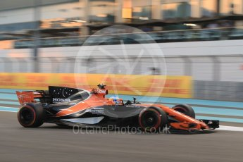 World © Octane Photographic Ltd. Formula 1 - Abu Dhabi Grand Prix - Friday - Practice 2. Fernando Alonso - McLaren Honda MCL32. Yas Marina Circuit, Abu Dhabi. Friday 24th November 2017. Digital Ref: 2003CB1L6630