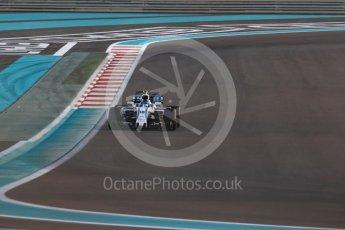 World © Octane Photographic Ltd. Formula 1 - Abu Dhabi Grand Prix - Friday - Practice 2. Lance Stroll - Williams Martini Racing FW40. Yas Marina Circuit, Abu Dhabi. Friday 24th November 2017. Digital Ref: 2003LB1D3369