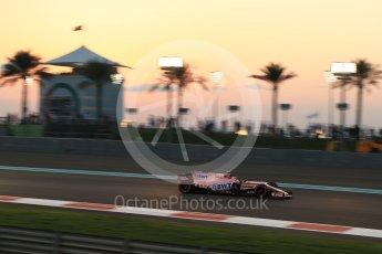 World © Octane Photographic Ltd. Formula 1 - Abu Dhabi Grand Prix - Friday - Practice 2. Esteban Ocon - Sahara Force India VJM10. Yas Marina Circuit, Abu Dhabi. Friday 24th November 2017. Digital Ref: 2003LB2D8865