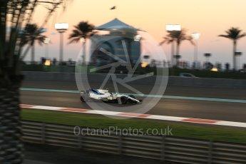 World © Octane Photographic Ltd. Formula 1 - Abu Dhabi Grand Prix - Friday - Practice 2. Lance Stroll - Williams Martini Racing FW40. Yas Marina Circuit, Abu Dhabi. Friday 24th November 2017. Digital Ref: 2003LB2D9014