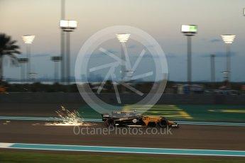 World © Octane Photographic Ltd. Formula 1 - Abu Dhabi Grand Prix - Friday - Practice 2. Carlos Sainz - Renault Sport F1 Team R.S.17. Yas Marina Circuit, Abu Dhabi. Friday 24th November 2017. Digital Ref: 2003LB2D9189