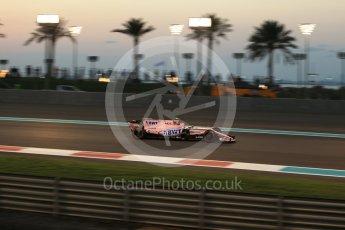 World © Octane Photographic Ltd. Formula 1 - Abu Dhabi Grand Prix - Friday - Practice 2. Esteban Ocon - Sahara Force India VJM10. Yas Marina Circuit, Abu Dhabi. Friday 24th November 2017. Digital Ref: 2003LB2D9241