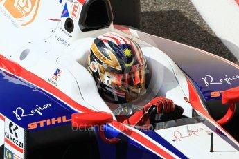 World © Octane Photographic Ltd. FIA Formula 2 (F2) - Practice. Nabil Jeffri – Trident. Abu Dhabi Grand Prix, Yas Marina Circuit. 24th November 2017. Digital Ref:2000CB1L5625