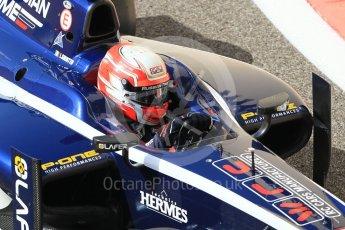 World © Octane Photographic Ltd. FIA Formula 2 (F2) - Practice. Luca Ghiotto – Russian Time. Abu Dhabi Grand Prix, Yas Marina Circuit. 24th November 2017. Digital Ref:2000CB1L5674