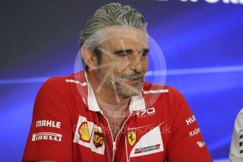World © Octane Photographic Ltd. Formula 1 - Abu Dhabi Grand Prix – Friday Team Press Conference – Part 1. Maurizio Arrivabene – Managing Director and Team Principal of Scuderia Ferrari. Yas Marina Circuit, Abu Dhabi. Friday 24th November 2017. Digital Ref: